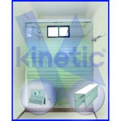 SLIDING SHOWER DOOR SINGLE ROLLER 1.46 X 1.875 M, CHAMPAGNE PAINT FINISH