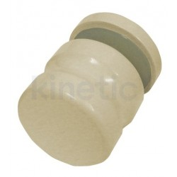DOOR KNOB 25 MM DIAMETER, SINGLE, BEIGE FINISH