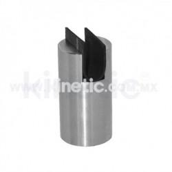 STAINLESS STEEL FRAMELESS GLASS SPIGOT 70 X 38 MM DIAM. CR. 12.7 MM