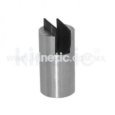 STAINLESS STEEL FRAMELESS GLASS SPIGOT 102 X 63.5 MM DIAM. CR. 9.5 MM