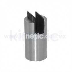 CILINDRO RANURADO ACERO INOXIDABLE 102 X 63.5 MM DIAM. CR. 12.7 MM