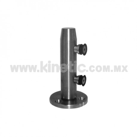 STAINLESS STEEL POST 41 x 255 MM AND 9.5 MM BASE