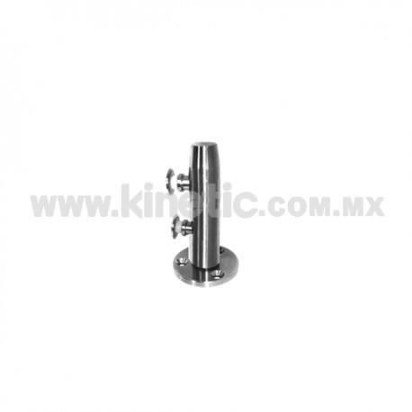 STAINLESS STEEL POST WITH BUTTON HEADS 41 x 255 MM AND 9.5 MM BASE