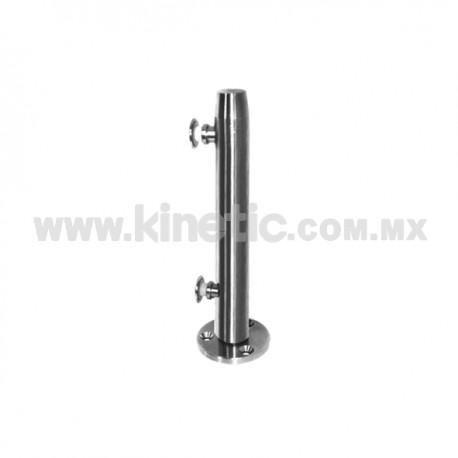 STAINLESS STEEL POST WITH BUTTON HEADS 41 x 450 MM AND 9.5 MM BASE