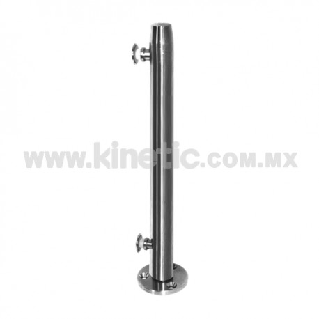 STAINLESS STEEL POST WITH BUTTON HEADS 41 x 750 MM AND 9.5 MM BASE
