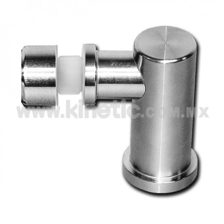 STAINLESS STEEL SUPPORT ANGLE WITH BUTTON HEAD DIAMETER 25MM.X13MM