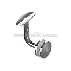 HANDRAIL GLASS BRACKET WITH STAINLESS STEEL BUTTON HEAD