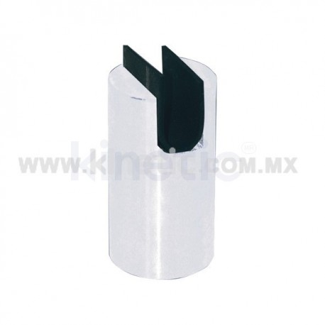 ALUMINUM FRAMELESS GLASS SPIGOT 102 X 50 MM DIAM. CR .9.5 MM