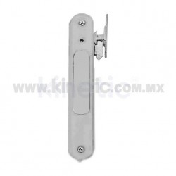 FLUSH ALUMINUM DOOR HANDLE, NATURAL MATTE FINISH