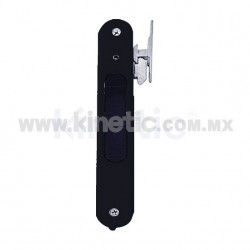 FLUSH ALUMINUM DOOR HANDLE, BLACK FINISH