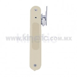 FLUSH ALUMINUM DOOR HANDLE, IVORY FINISH