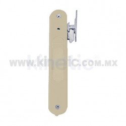 FLUSH ALUMINUM DOOR HANDLE, BEIGE FINISH