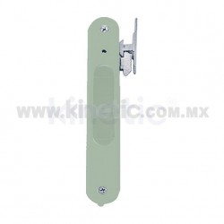 FLUSH ALUMINUM DOOR HANDLE, CHAMPAGNE FINISH