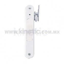 FLUSH ALUMINUM DOOR HANDLE, WHITE FINISH