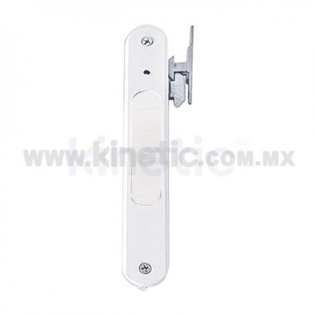 FLUSH ALUMINUM DOOR HANDLE, WHITE FINISH