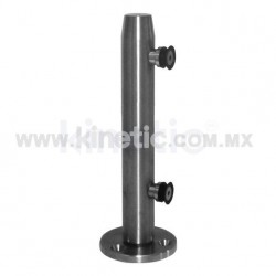 STAINLESS STEEL POST 41 x 450 MM AND 9.5 MM BASE