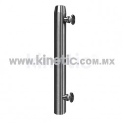 STAINLESS STEEL POST 41 x 750 MM WITH BUTTON HEADS