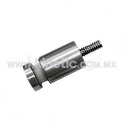ESPACIADOR INOX. 19 X 25 MM C/CHAPETON Y BIRLO 1/4