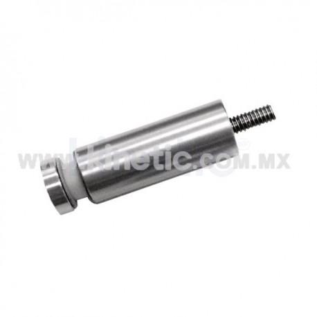 ESPACIADOR INOX. 19 X 50 MM C/CHAPETON Y BIRLO 1/4