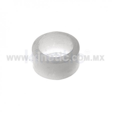 NYLON END HEAD 16 MM DIAMETER CHROME 12.7 MM