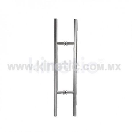 TUBULAR GLASS DOOR HANDLE 25X600MM