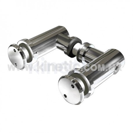 STAINLESS STEEL SUPPORT ANGLE DOUBLE FIN 12.7 MM WITH BUTTON HEAD 32 MM DIAMETER