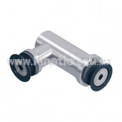 STAINLESS STEEL ARTICULATED BRACKET GLASS-TO-GLASS 90°