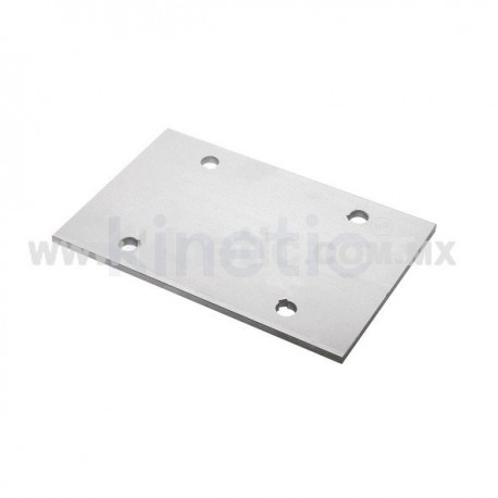 ALUMINUM EXTENSION PLATE 194 MM 2 HOLES, FOR 300 MM FIN