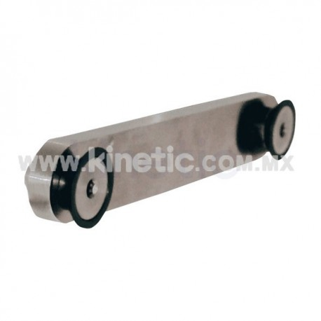 STRAIGHT STAINLESS STEEL GLASS BRACKET 80 MM BETWEEN CENTERS, 2 BOLTS, SQUASH