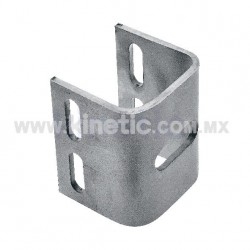 STAINLESS STEEL ADJUSTING U-BRACKET SANDBLAST FINISH FOR TUBE TO POLE CONNECTION