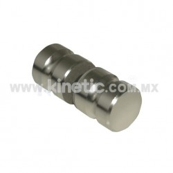 DOOR KNOB 32MM DIAMETER NATURAL MIRROR FINISH