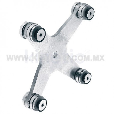STAINLESS STEEL SPIDER FITTING 170MM 4 WAY WITH CUSHION