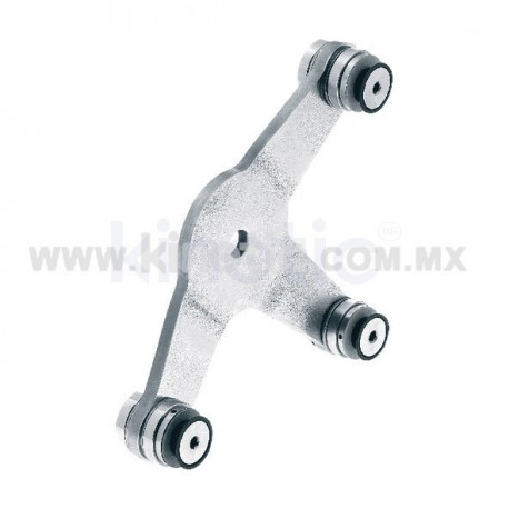 STAINLESS STEEL SPIDER FITTING 170MM 3 WAY WITH CUSHION