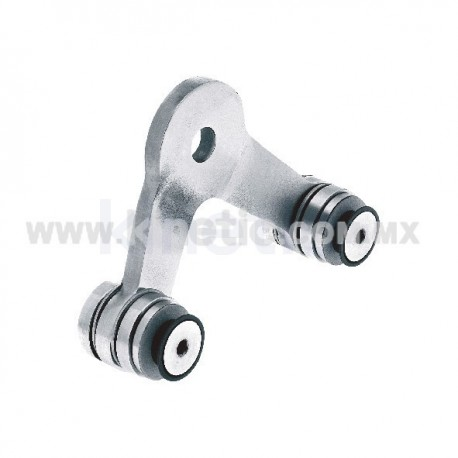 STAINLESS STEEL SPIDER FITTING 128MM 2 WAY WITH CUSHION