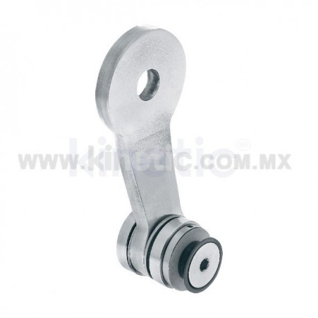 STAINLESS STEEL SPIDER FITTING 128MM 1 WAY WITH CUSHION CONNECTOR