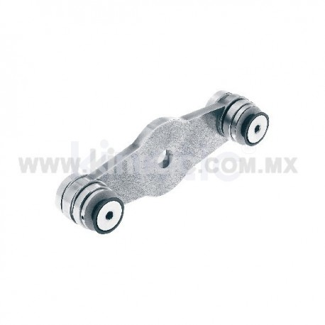 STAINLESS STEEL SPIDER FITTING 170MM 2 WAY, STRAIGHT, WITH CUSHION
