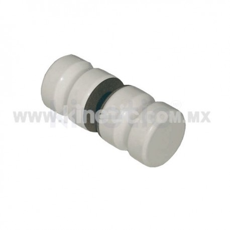 DOOR KNOB 32MM DIAMETER WHITE FINISH