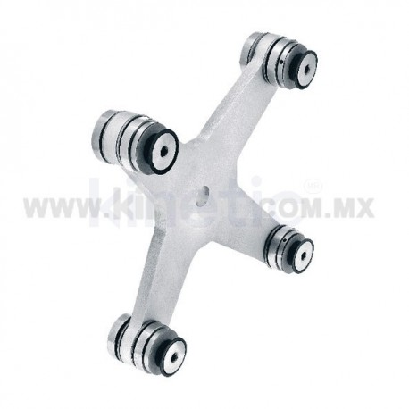 ALUMINUM SPIDER FITTING 170MM 4 WAY WITH CUSHION
