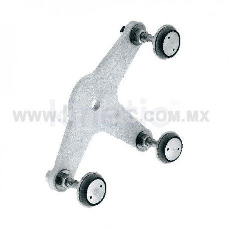 ALUMINUM SPIDER FITTING 170MM 3 WAY, WITH 1/2