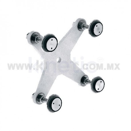 ALUMINUM SPIDER FITTING 170MM 4 WAY, WITH 1/2