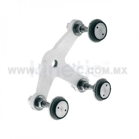 ALUMINUM SPIDER FITTING 128MM 3 WAY, WITH 1/2