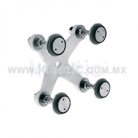 ALUMINUM SPIDER FITTING 128MM 4 WAY, WITH 1/2