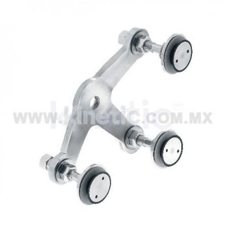 ARAÑA INOX 128 MM 3 BR CON ROTULAS VASTAGO 1/2
