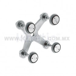 STAINLESS STEEL FITTING 128MM 4 WAY, WITH 1/2