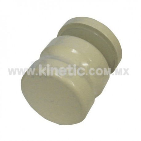 DOOR KNOB 25 MM DIAMETER, SINGLE, IVORY FINISH