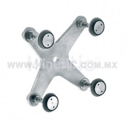 STAINLESS STEEL FITTING 170 MM 4 WAY, WITH 1/2