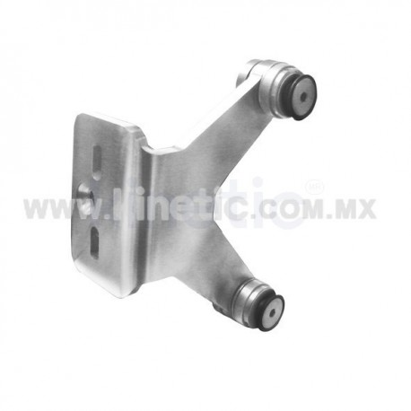 STAINLESS STEEL FIN SPIDER FITTING 170MM 2 WAY WITH CUSHION CONNECTOR