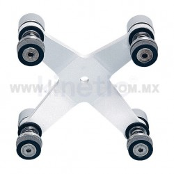 ALUMINUM INTERIOR SPIDER FITTING 128MM 4 WAY WITH ALLEN BOLT
