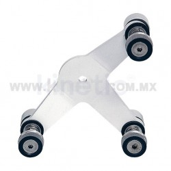 ALUMINUM INTERIORSPIDER FITTING 128MM 3 WAY WITH ALLEN BOLT