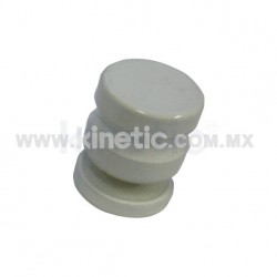 DOOR KNOB 25 MM DIAMETER, SINGLE, WHITE FINISH